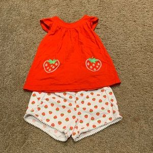 Carter's strawberry outfit